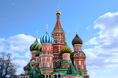 Moscow  St. Basil`s Cathedral kremlin  church Royalty Free Stock Photography