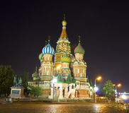 Moscow, St. Basil's cathedral at night Stock Photo