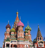 Moscow, St. Basil's (Intersession) cathedral Royalty Free Stock Photography