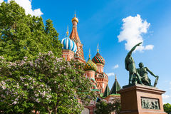 Moscow St Basils Cathedral on Red Square Royalty Free Stock Images