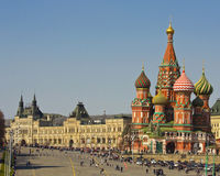 Moscow, St. Basils Intercession cathedral Royalty Free Stock Photography