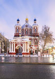 Moscow. St. Clement's Church. Early in the morning. Stock Photos