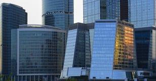 Moscow-Stad för affärsmitt Arkivfoto