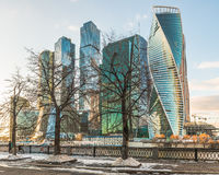 Moscow-Stad för affärsmitt Fotografering för Bildbyråer