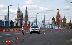 Moscow stad Racing Royaltyfri Bild