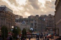 moscow stads- liggande Arkivfoton