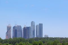 Moscow stadscomplex Arkivbild