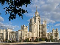 Moscow Stalin large apartment house Royalty Free Stock Images