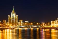 Moscow, Stalin skyscraper Stock Photos