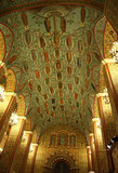 Moscow State Historical Museum interior. Ceiling interior in a Moscow State Historical Museum at the Red Square, Moscow, Russia. Genealogy of Russian Kings stock image