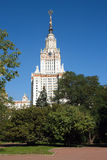 Moscow State University building in summer day Stock Photography