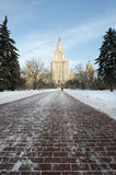 Moscow State University Main building Royalty Free Stock Photography