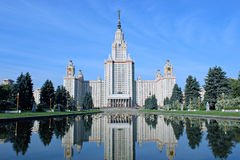 Moscow State University named after Lomonosov Stock Photo