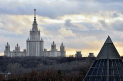 Moscow State University named after Lomonosov Stock Image