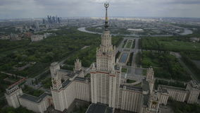 Moscow State University named after Mikhail stock video