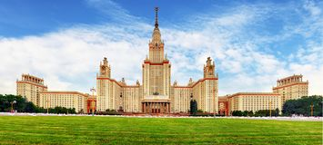 Moscow state university, Russia royalty free stock image
