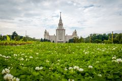 Moscow State University in Moscow, Russia. royalty free stock photo