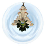 Moscow State University under cloudy sky Royalty Free Stock Images