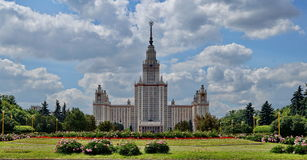 Moscow State University. View on Moscow State University Royalty Free Stock Photography