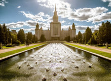 Moscow State University (MGU) on Sparrow Hills Royalty Free Stock Photos