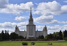 Moscow State Universtity - Main Building. The Main building of Moscow State University. One of the Seven Sisters found in Moscow, Russia stock photos