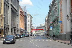 Moscow, Street Ilyinka Royalty Free Stock Photos
