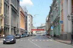Moscow, Street Ilyinka Royalty Free Stock Photos