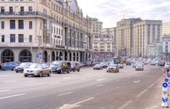 Moscow. Street Teatralnyy proezd Royalty Free Stock Photography
