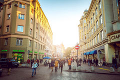 Moscow streets Royalty Free Stock Photos
