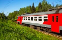 Moscow suburban train Royalty Free Stock Photos