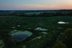 Moscow suburbs in evening Stock Images