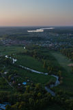Moscow suburbs in the evening Royalty Free Stock Images