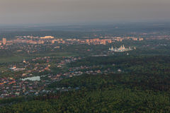 Moscow suburbs in the evening Stock Photography
