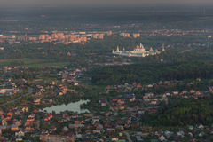 Moscow suburbs in the evening Stock Images