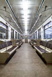 Moscow subway car Stock Photo