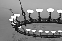 Moscow subway. Lighting. Stock Photo