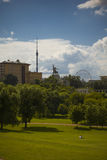 Moscow summer landscape on a Sunny day Stock Photography