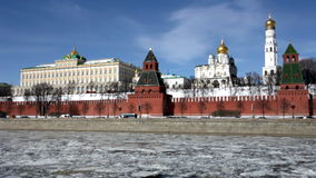 Moscow in sunny spring day stock video footage