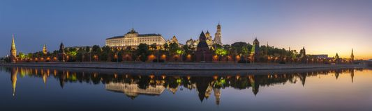 Moscow Russia. Moscow sunrise panorama city skyline at Kremlin Palace Red Square and Moscow River, Moscow, Russia stock photography