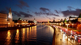 Moscow. The sunset in Moscow city center Stock Image