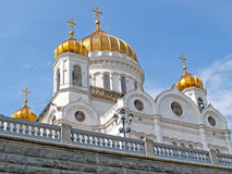 Moscow. A temple of the Christ of the Savior, the bottom view Stock Photo