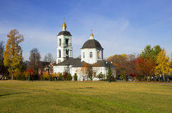 Moscow. The temple of the Icon of the Mother of God in Tsaritsyno. Stock Images