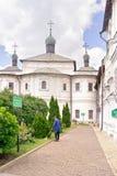 Moscow. Territory of the Novospasskogo friary Royalty Free Stock Photo