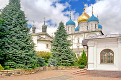 Moscow. Territory of the Novospasskogo friary Royalty Free Stock Photos