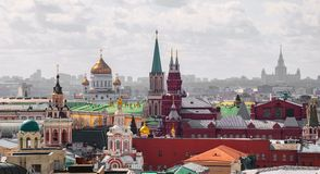 Moscow. top view Royalty Free Stock Photography