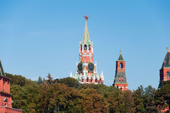 Moscow  Tower  Kremlin against the background of autumn trees, Russia Royalty Free Stock Photos