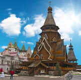 Moscow, a traditional old wooden church Stock Image