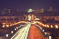 Moscow traffic. During the rush hours Stock Photography
