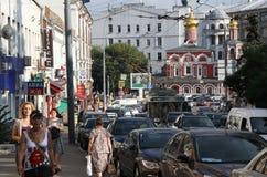 moscow trafik royaltyfri foto
