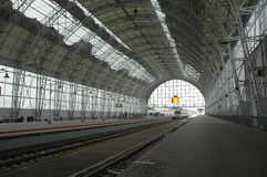 Moscow train station. One of Moscow`s central train stations - Kievskiy Royalty Free Stock Photography